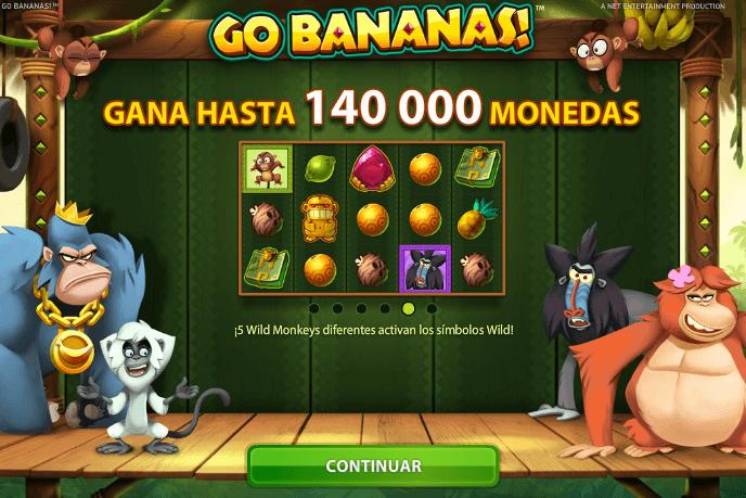pantalla de bonificación tragaperras go bananas