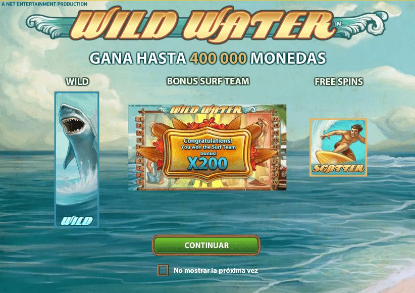 wild water tragaperras