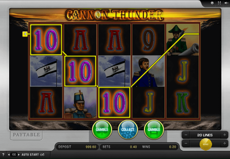 slot online cannon thunder