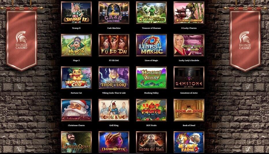 bronze casino juegos