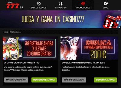 casino 777 juegos promociones