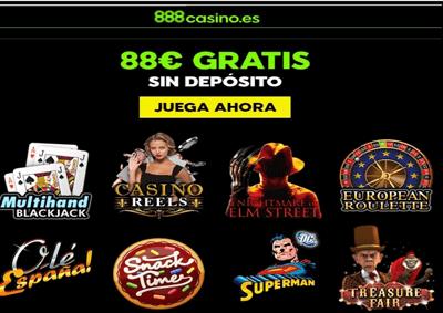 88 euros gratis por registro en el Casino 888