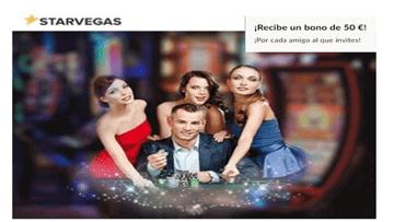 En Casino Starvegas bono de 50 euros por traer amigos