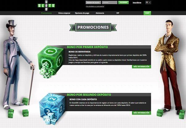 slots 500 promociones