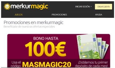 Bono de hasta 100 euros Merkurmagic