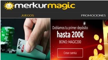 Merkurmagic duplica el primer depósito hasta por 200 euros