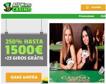1500 euros por primer depósito en Casino Allwins