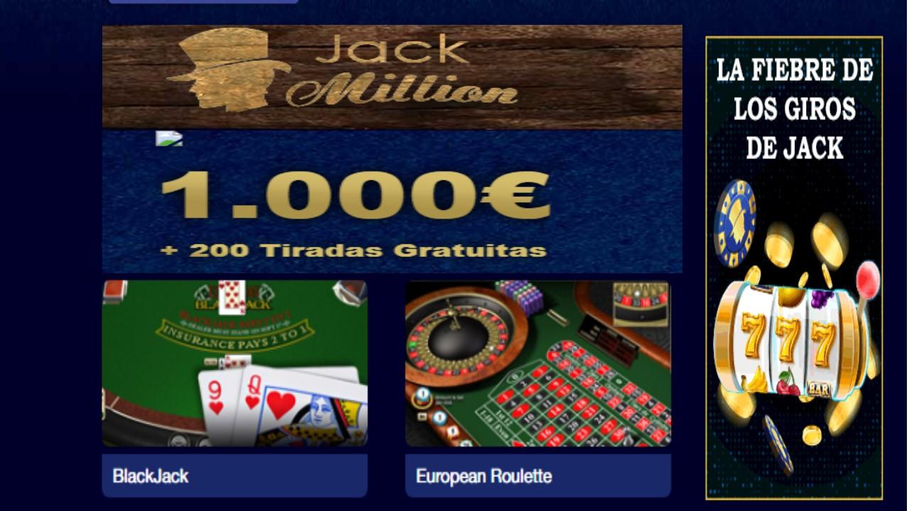 Giros gratis Casino Jack Million