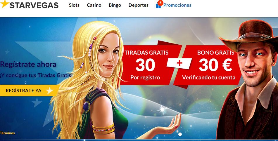 Bono de bienvenida Casino Starvegas
