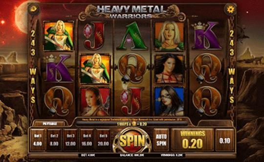 Heavy Metal Warriors tragamonedas