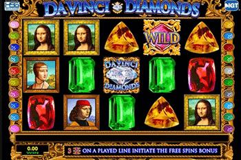 tragaperras Da Vinci Diamonds