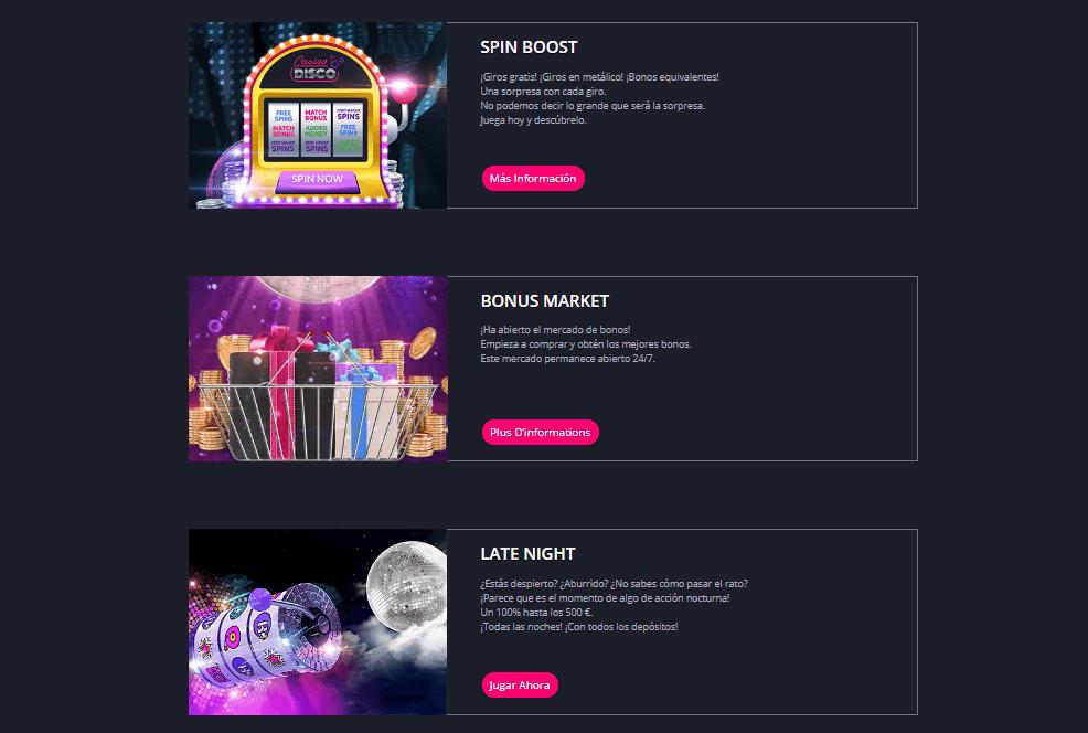 promociones casino disco